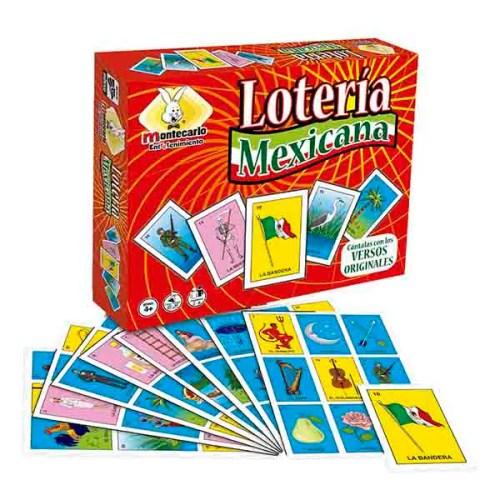 Lotería mexicana Novedades Montecarlo juego de mesa tradicional familiar