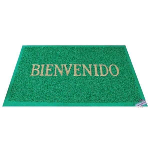 Tapete Entrada Decorativo Bienvenido Lavable Antiderrapante