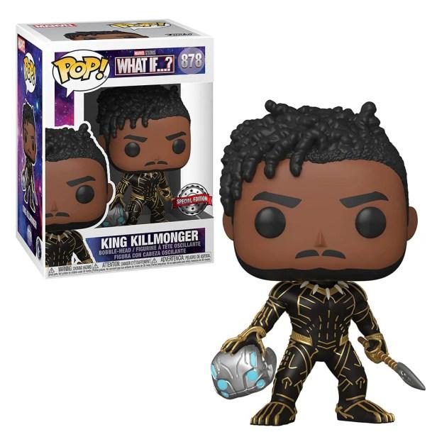 Funko Pop Marvel: What If? - King Killmonger Exclusivo Distritomax