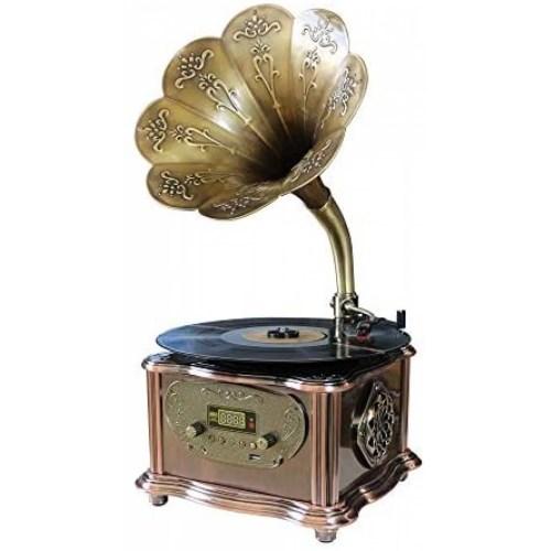 Tocadiscos de Fonógrafo GDEAST 33, 45 RPM 30W -Bronce