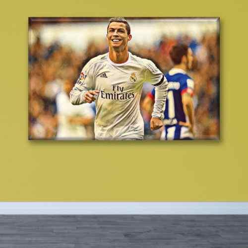 Cuadro Canva Decorativo Cristiano Ronaldo 60X40 cm