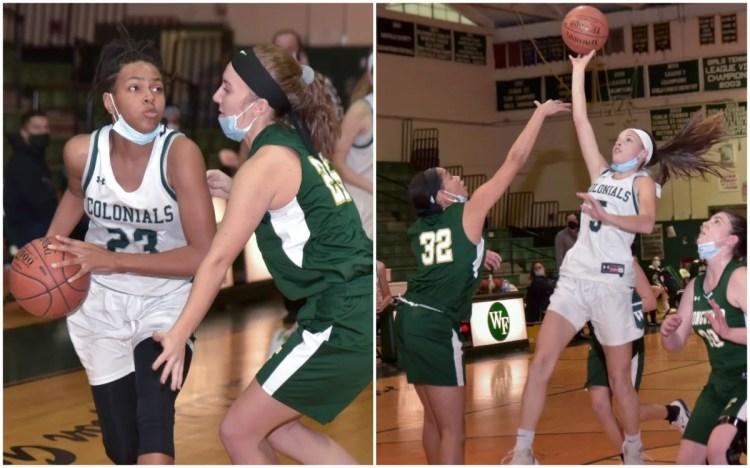girls' basketball team collage
