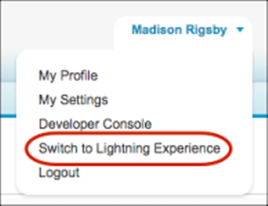 Switcher to Lightning Experience