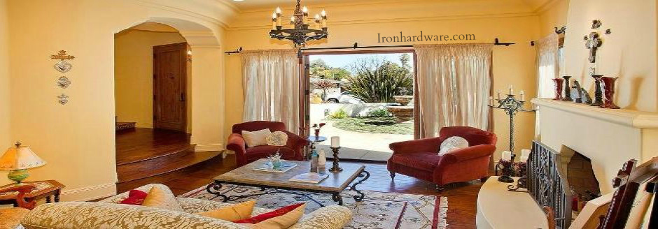 wrought iron double curtain rods paso