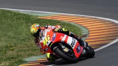 Rossi rueda de nuevo con la GP12 en Mugello
