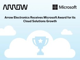 Arrow Electronics tar emot pris för Microsoft Cloud Solutions Growth 1