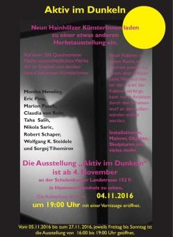 Aktiv im Dunkeln - Neun Hainhölzer KünsterInnen laden zu einer etwas anderen Herbstausstellung ein