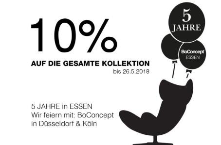 BoConcept NRW: 5 Jahre in Essen – 10% auf ALLES