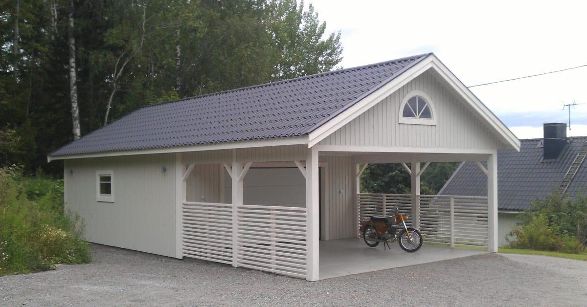 Garage Med Carport Lvngers Bygg