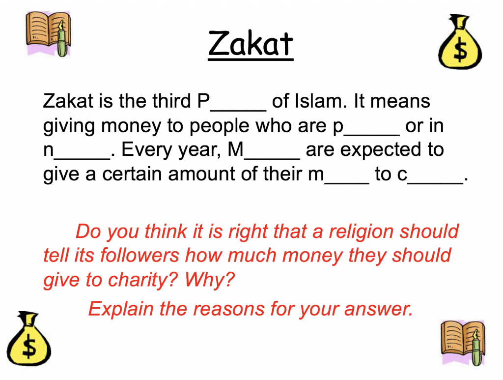 Zakah And Worksheets Pp Safar Resources