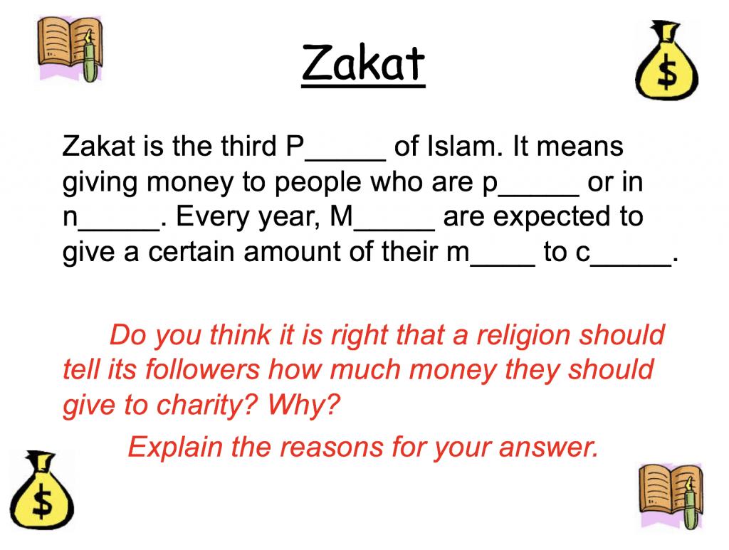 Zakah And Worksheets Pp Safar Resources Beta
