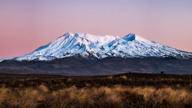 The writer's spirits soar when he catches that first glimpse of magnificent Mt Ruapehu.