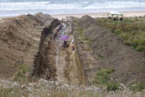 A 90-metre-long trench used by GNS scientists on Puatai beach, north of Gisborne, has shown the east coast of New ...