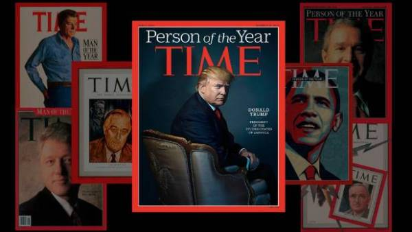 Donald Trump, Time's Person of the Year.