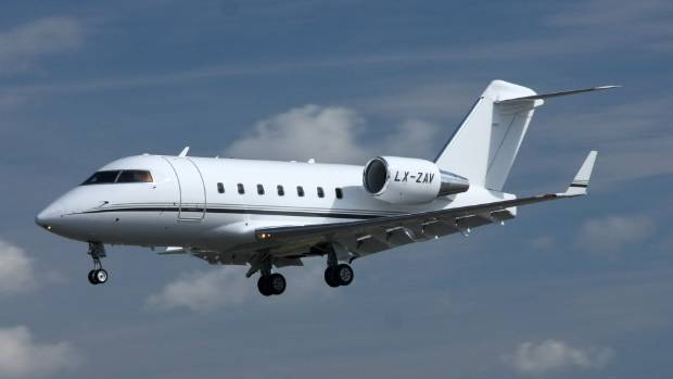 The Bombardier Challenger 604 (not pictured) was carrying nine passengers and two crew at the time.