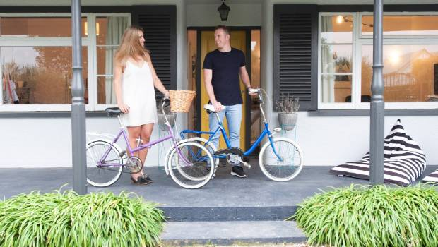 The couple's passion for upcycling isn't limited to interiors. Last Valentine's Day, Shayden gave Georgia a vintage Raleigh 20 that he'd refurbished.