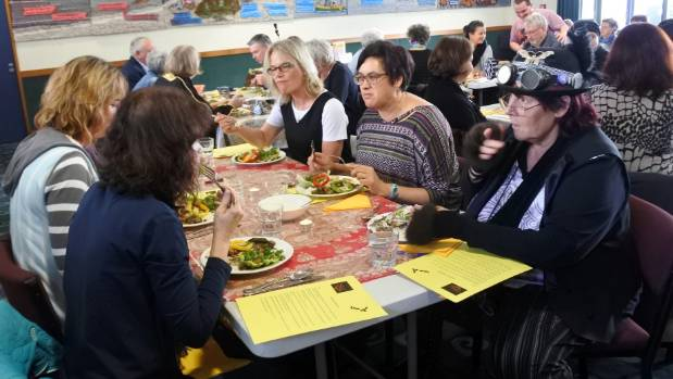 About 100 people enjoyed a Syrian lunch.