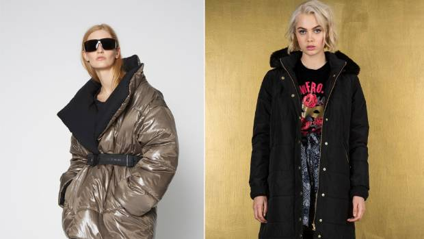 Zambesi's platinum-hued Sleeper jacket, $775, is reversible and comes with an elasticated belt. RUBY's Rooftop Puffy ...