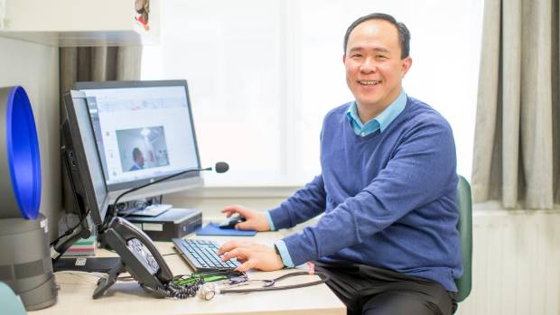 Dr Eddie Tan is involved in a pilot programme with Spring Hill prisoners using video technology to conduct appointments.