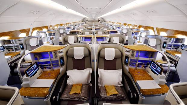 The A380's interior is popular with passengers, due to its spacious layout.