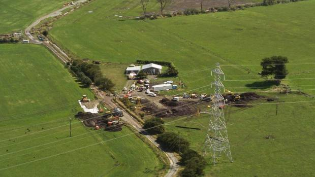 The pipeline which connects Marsden Point Oil Refinery and Auckland Airport was breached on a farm near Ruakaka.