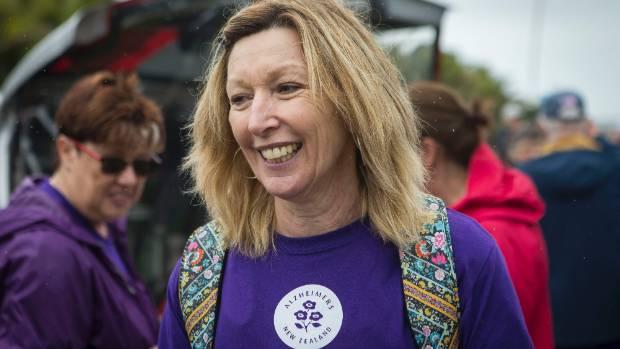 Alzheimers Taranaki manager Ana Parkes at the Memory Walk on Sunday.