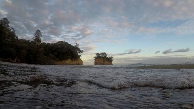 Torbay's Waiake Beach was marked as a risk to swimmers, due to poor water quality on Wednesday morning.