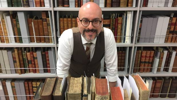 Alex Turnbull Library curator Anthony Tedeschi said all sorts of strange inscriptions and drawings could be found in the ...