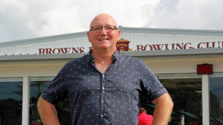 Tim Preston, partner chairman of  CM Partners enjoying weekend recreation recently as chairman of the Browns Bay Bowling Club in Auckland.