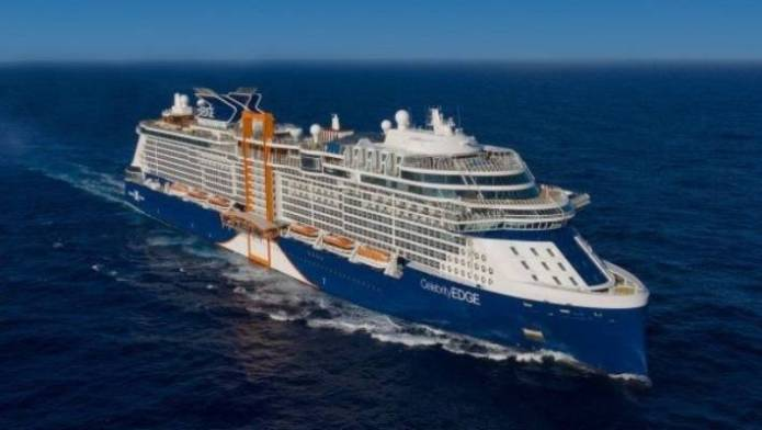 Celebrity Edge can accommodate nearly 3000 passengers.
