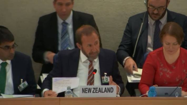 Andrew Little's appearance before the UPR was New Zealand's third.