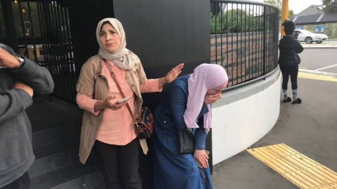 Christchurch shooting: Distressed women fear the worst for their loved ones in the mosque attack.