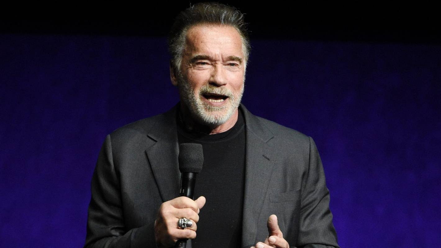 'I'm just glad the idiot didn't interrupt my Snapchat': Arnold Schwarzenegger drop-kicked