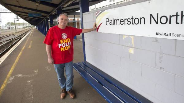 Rotary members from Manawatū and beyond riding the train to fight polio