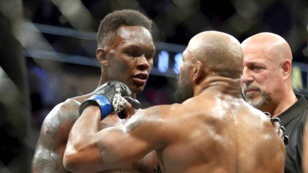 UFC middleweight champion Israel Adesanya seems to get more of a response from Yoel Romero after their lacklustre fight finished in Las Vegas.