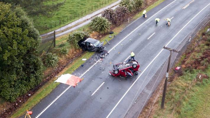 Two people were killed and three injured in a crash just south of Tokoroa.