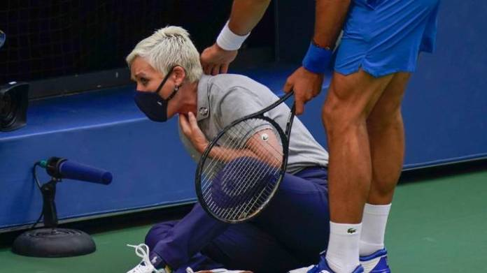 Novak Djokovic defaulted from US Open for hitting ball at line judge |  Stuff.co.nz