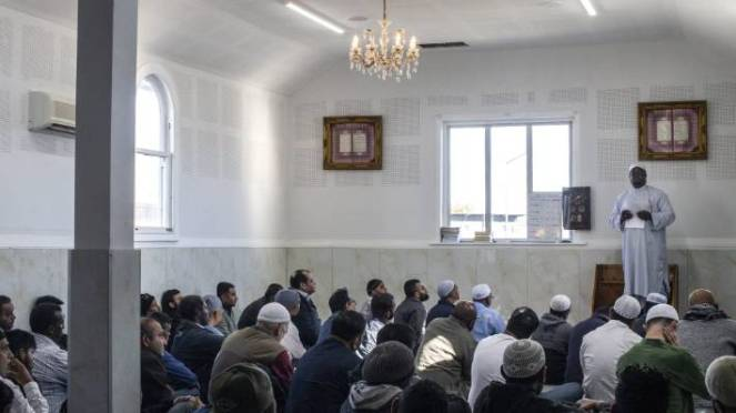 Linwood mosque was busy in the months after the 2019 terror attacks as worshippers steadfastly returned to prayers, led here by Imam Abdul Lateef.