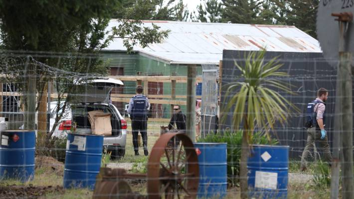 Police investigating the death of a man raided the South Island headquarters of the Mongols MC bikie gang on Friday.