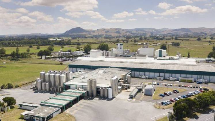 Fonterra's manufacturing plants, like this one at Hautapu in the Waikato, are operating under strict Covid-19 regulations.