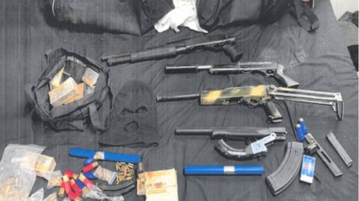 Items recovered by police from Seth Forde's address in Napier on May 12, 2021.