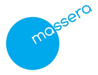 Massera Logo on White w Slanted Text 390 x 300