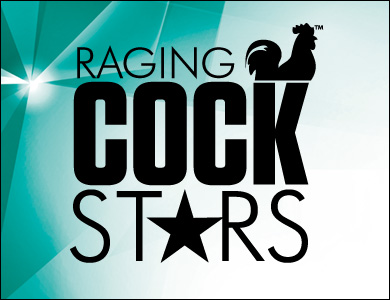 Raging Cock Stars Green Logo Banner 390 x 300
