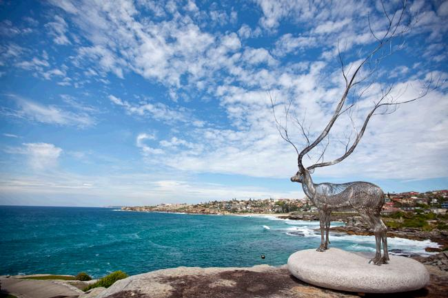 Bondi Beach in winter Sculpture by the Sea