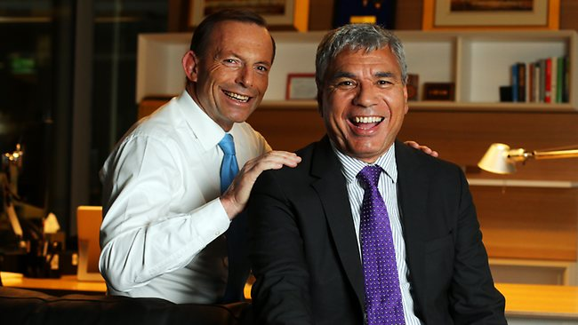 Tony Abbott and Warren Mundine