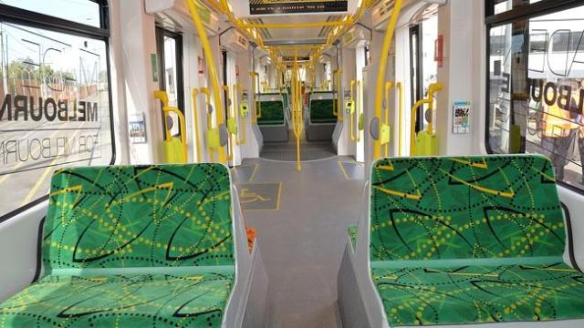 The interior of the new E tram.