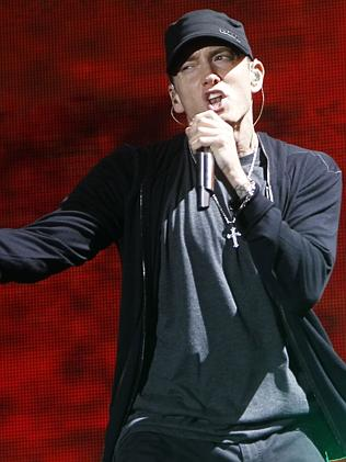 USA rapper Eminem can still sell albums. (AP Photo/Jason DeCrow, file)