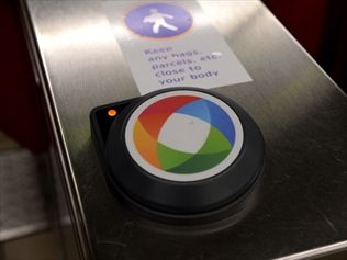 An Opal electronic public transport ticket reader