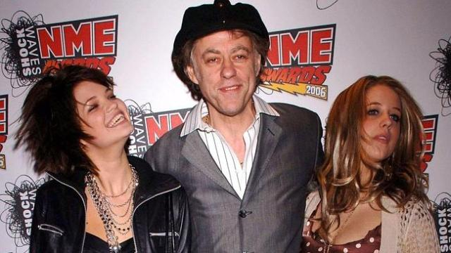 Close family ... Peaches Geldof (right) pictured with her father Bob Geldof and sister Pi