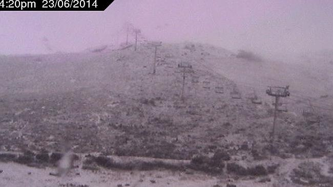 It's still coming down. Wait till tomorrow. Pic: ski.com.au
